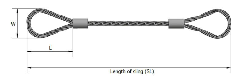 Wire Rope Slings or Large Wire Rope Slings for Large Load Lift